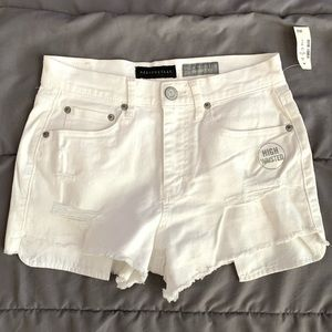 Aeropostale High Distressed/Ripped Shorty Shorts